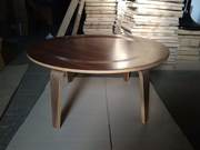 Стол деревянный Аме,  гнутая фанера,  цвет темный орех